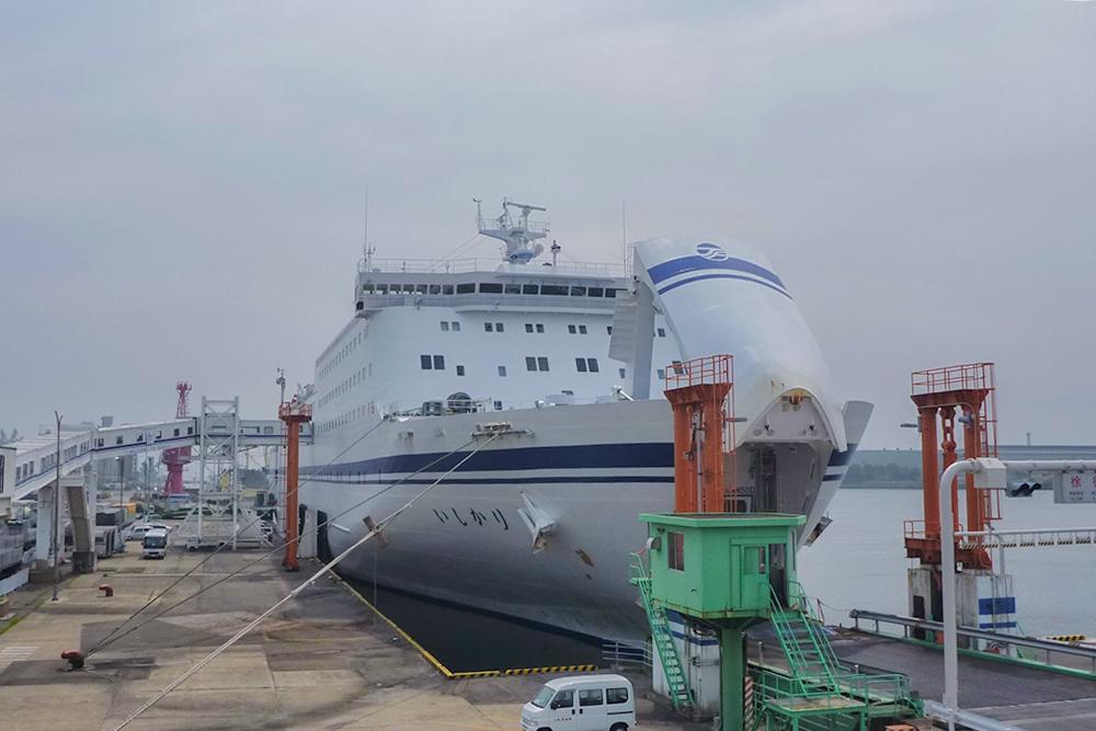 仙台港に到着