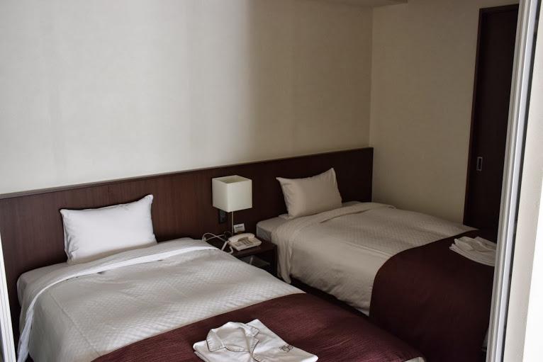 パーテーションがあって個室になるベッドスペース