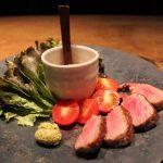 見島牛のステーキ