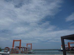 一日ぶりの大原港