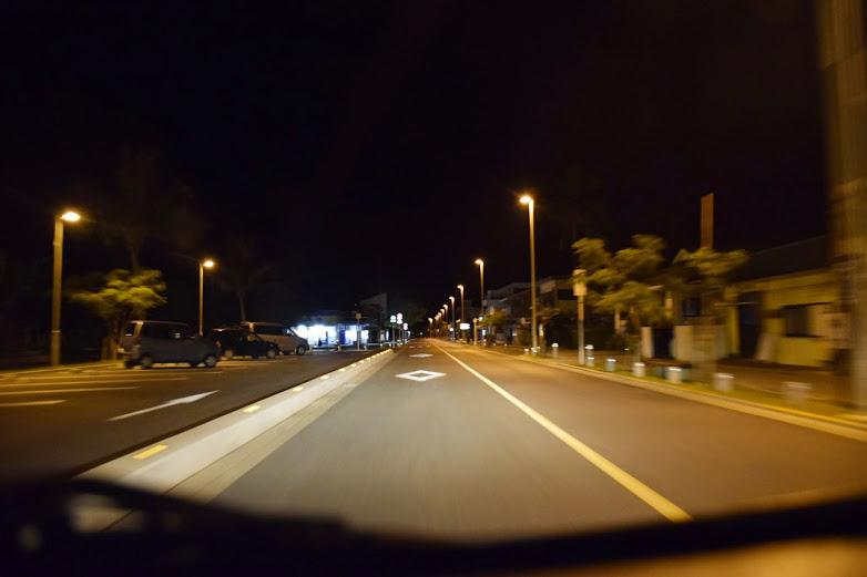 夜のドライブ!