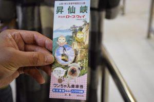 ワンちゃん乗車券は往復で300円