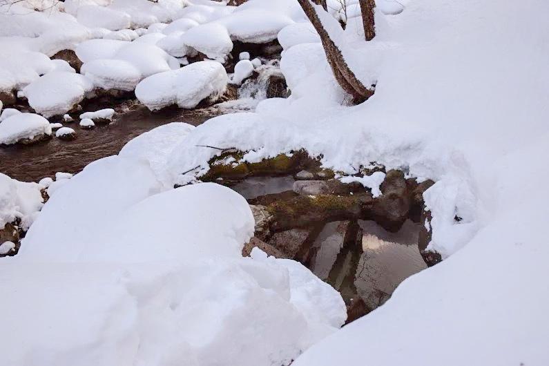 念願の雪見風呂
