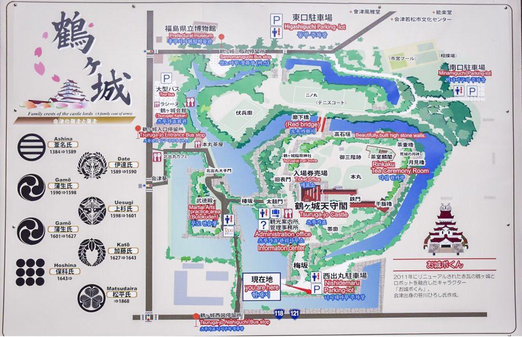 鶴ヶ城マップ