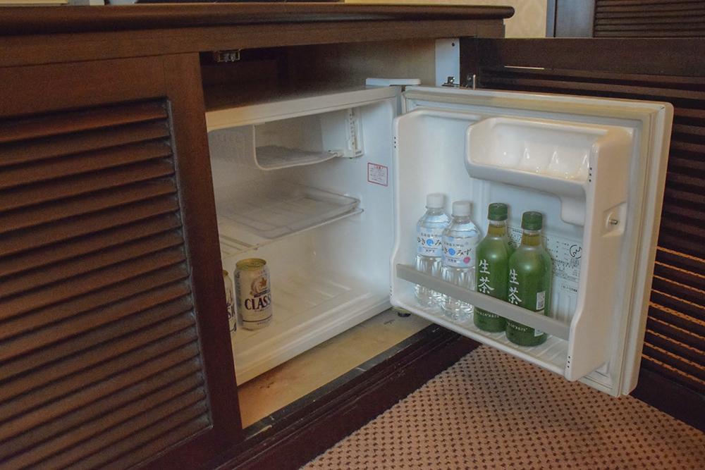 冷蔵庫内のドリンクは無料