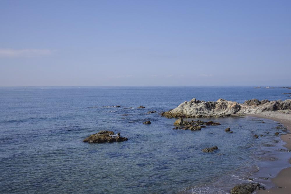 葉山の海を眺めながら