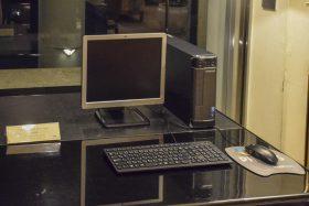 ロビーのフリーパソコン