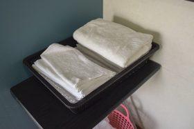 脱衣場のタオル